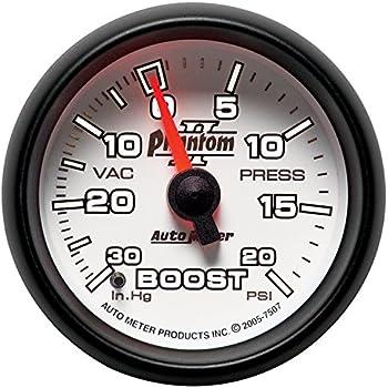 Auto Meter 4907 Ultra-Lite II 2-1//16 30 in Hg//20 PSI Mechanical Vacuum//Boost Gauge