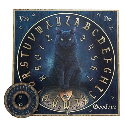 Master `s VoiceブラックCat Ouija Board Game 15` x 15`