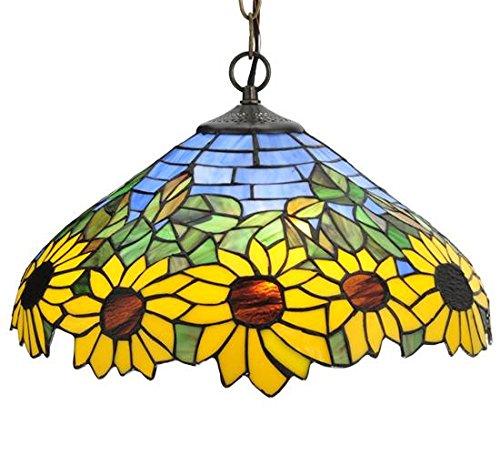 Meyda Tiffany 119560 Wild Sunflower Pendant, 16″W Review