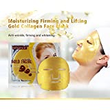 MOND'SUB (Pack of 20x60g) Gold Brightening, Moisturizing & Antiwrinkle Facial Mask Sheets - Rs.70/- Per Mask