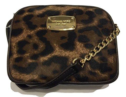 Michael Kors Hamilton Leopard Print Haircalf Small Cross-body Bag