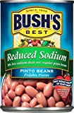 Gourmet Food : Bush's Best Reduced Sodium Pinto Beans, 16 oz (12 cans)