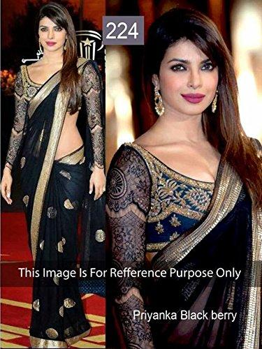 Bollywood Priyanka Chopra In Black Saree