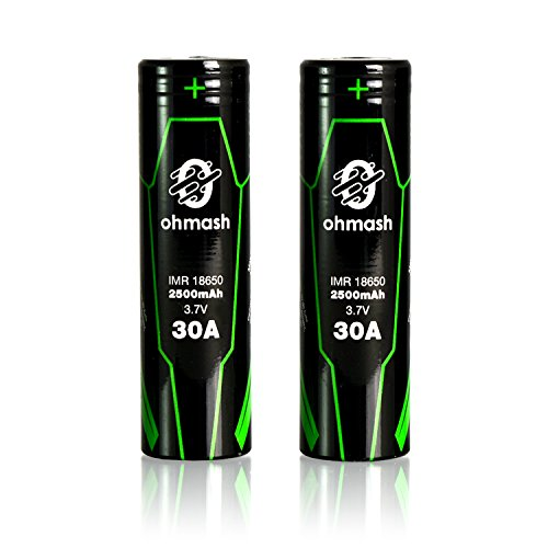 O B18650 30G Battery 2500mAh Rechargeable Batteries product image