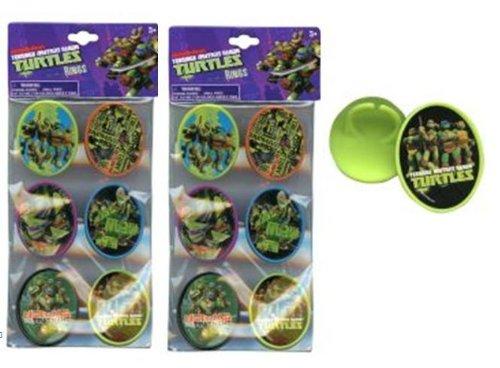 TMNT Ninja Turtle Cupcake Topper Ring - 12 Pcs