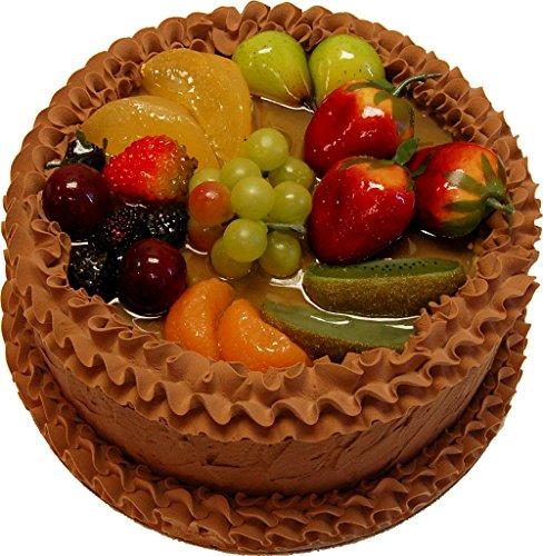 Chocolate Fake Fruit Cake 9 Inch