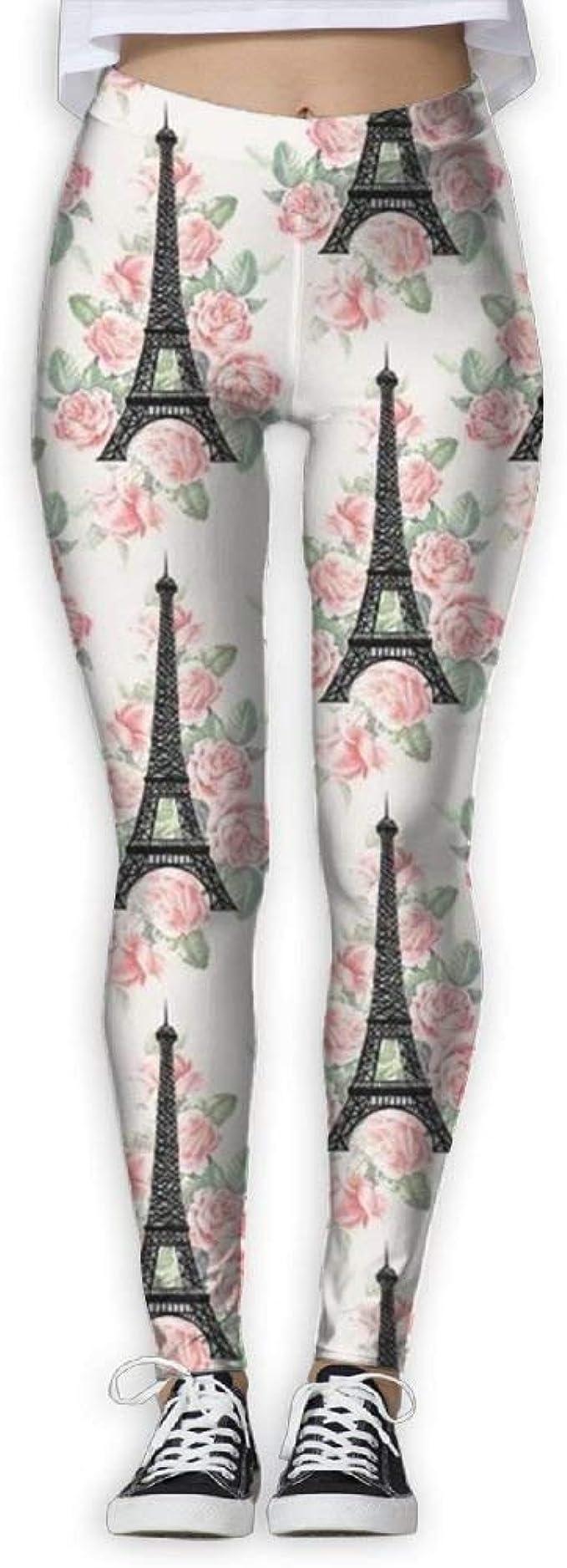 QQMIMIG Printed Leggings Eiffel Tower Leggings Workout Leggings Women Girls