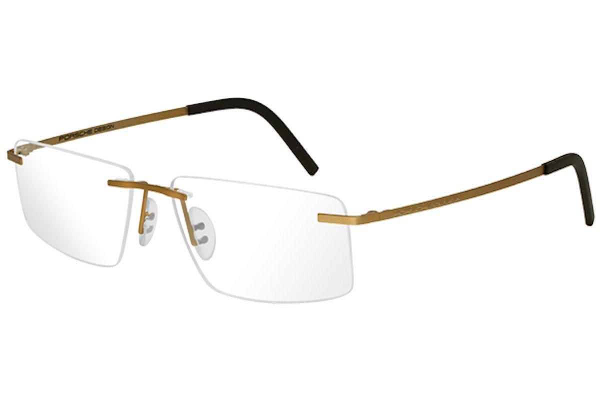 a8585e5c14a Amazon.com  Porsche Design Eyeglasses P8321S2 P 8321 S2 C Gold Rimless  Optical Frame 55mm  Clothing