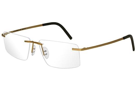 cef76dc8dfb Amazon.com  Porsche Design Eyeglasses P8321S2 P 8321 S2 C Gold Rimless  Optical Frame 55mm  Clothing