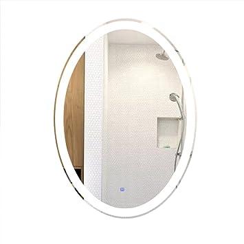 Miroirs De Salle Bain Ovale Miroir Lumineux Salon LED Pleine Longueur Maquillage