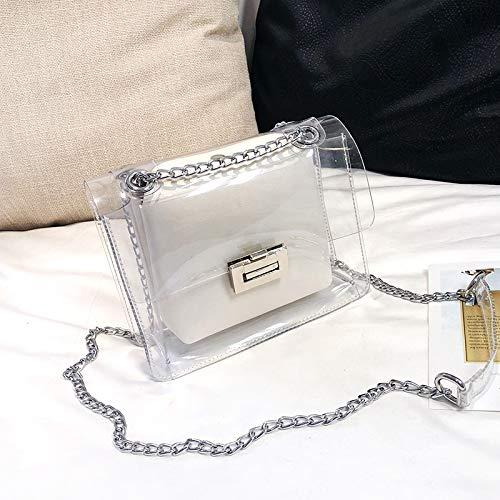 Version de WSLMHH Paquet Sac la d'été la Messenger marée Petit Transparente bandoulière de Blanc Mode coréenne bandoulière Sauvage de Sac xwARCwqgY