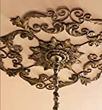 Large Old World Acanthus Leaf Ceiling Medallion