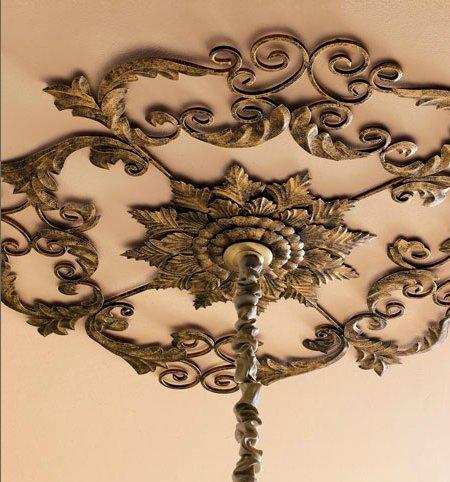 Large Old World Acanthus Leaf Ceiling Medallion by Intelligent Design