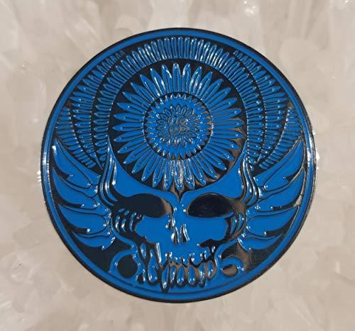 Grateful Dead Blue Stealie Wing Flower Disc 1.75