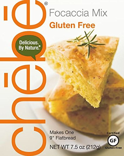 Mix Wheat Free Bread (Chebe Bread Focaccia Flat Bread Mix, Gluten Free, 7.5-Ounce Bags (Pack of 8))