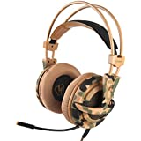 Letton L1 Newest Gaming Headset Bass Surround Stereo Sound Headphones for PS4 Xbox one PC MAC with Noise Cancelling mic Volume Control (Gold)
