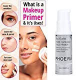 PHOERA Makeup Face Primer All Matte Pore Invisible Transparent Isolated Moisturizing Makeup Base Cosmetics Primer (A)