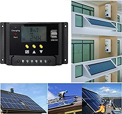 Best Cheap Deal for Hompie Solar Panel Controller+ MC4 Solar Connectors Intelligent LCD PWM Regulator Adapter Charger For Street Lamp Base Station System Environment Monitor Battery Charging from Hompie - Free 2 Day Shipping Available