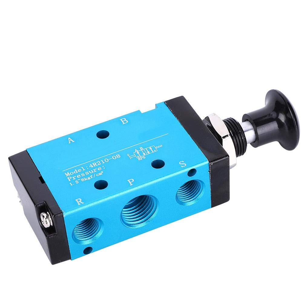 Pneumatic 3 Way 2 Postion Air Hand Lever Operated Valve 1/4in ...