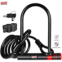 Arltb 12mm Steel U-Lock Bike Lock & Cable Combo - Heavy...