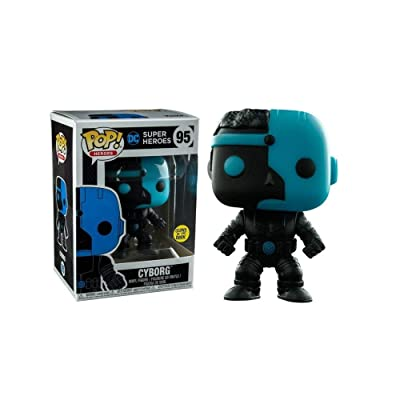 Funko Pop! Vinyl Justice League Cyborg Silhouette Glow in the Dark Entertainment Earth Exclusive: Toys & Games