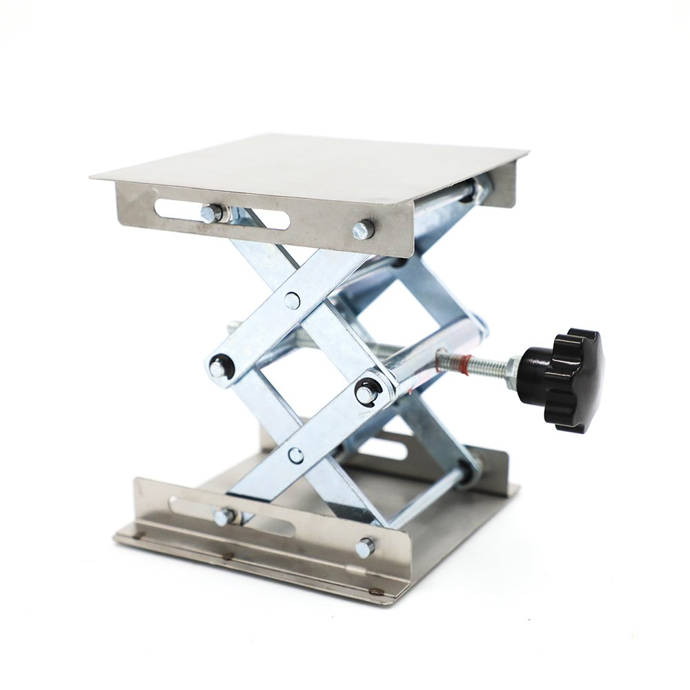 DiER Lab-Lift Lifting Platforms Stand Rack Scissor Lab-Lift Lifter 100 x 100mm Stainless Steel