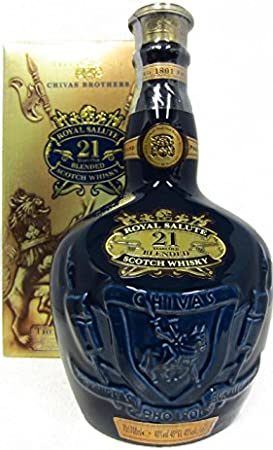 Chivas Regal - Royal Salute The Sapphire Flagon (old bottling) - 21 year old Whisky