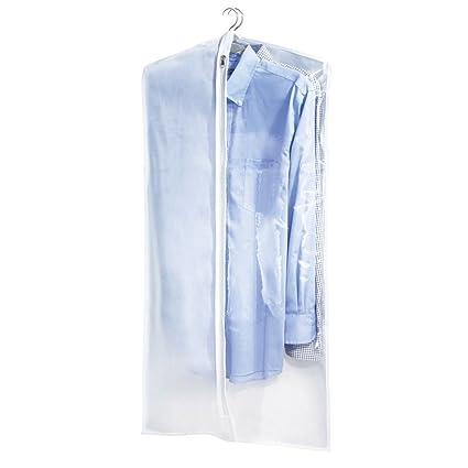 mDesign Funda para ropa - Práctica bolsa para guardar ropa ...