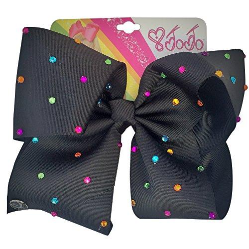 JoJo Siwa große Strass Unterschrift Haarschleife Mädchen Mode-Accessoire 5 Farben