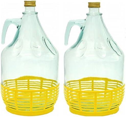 Conjunto de 2 botella de cristal botella de vidrio globo g/ärballon vasos de vino globo 5L BDP5Z