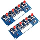 Icstation Benchtop Power Board 24 Pin Computer ATX Power Supply Breakout Adapter Module 12V 5V 3.3V (Pack of 2)