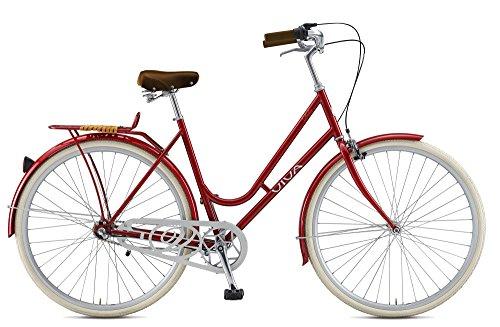 Viva Dolce City Cruiser Bicycle, 700c wheels, 47 cm frame, Women's Bike, Red
