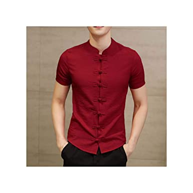 YtoaBmebqsu 2019 Vintage Mens Shirts Dress Short Sleeve Button ...