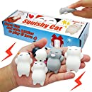 Mochi Squishy Toys, Rising Squishies, Super Cute Mini Kawaii Simulation, Lovely Squishy Cats, Soft Mochi Panda, Charms Gift for Children and Adult, an Excellent Toy for Relieving Stress