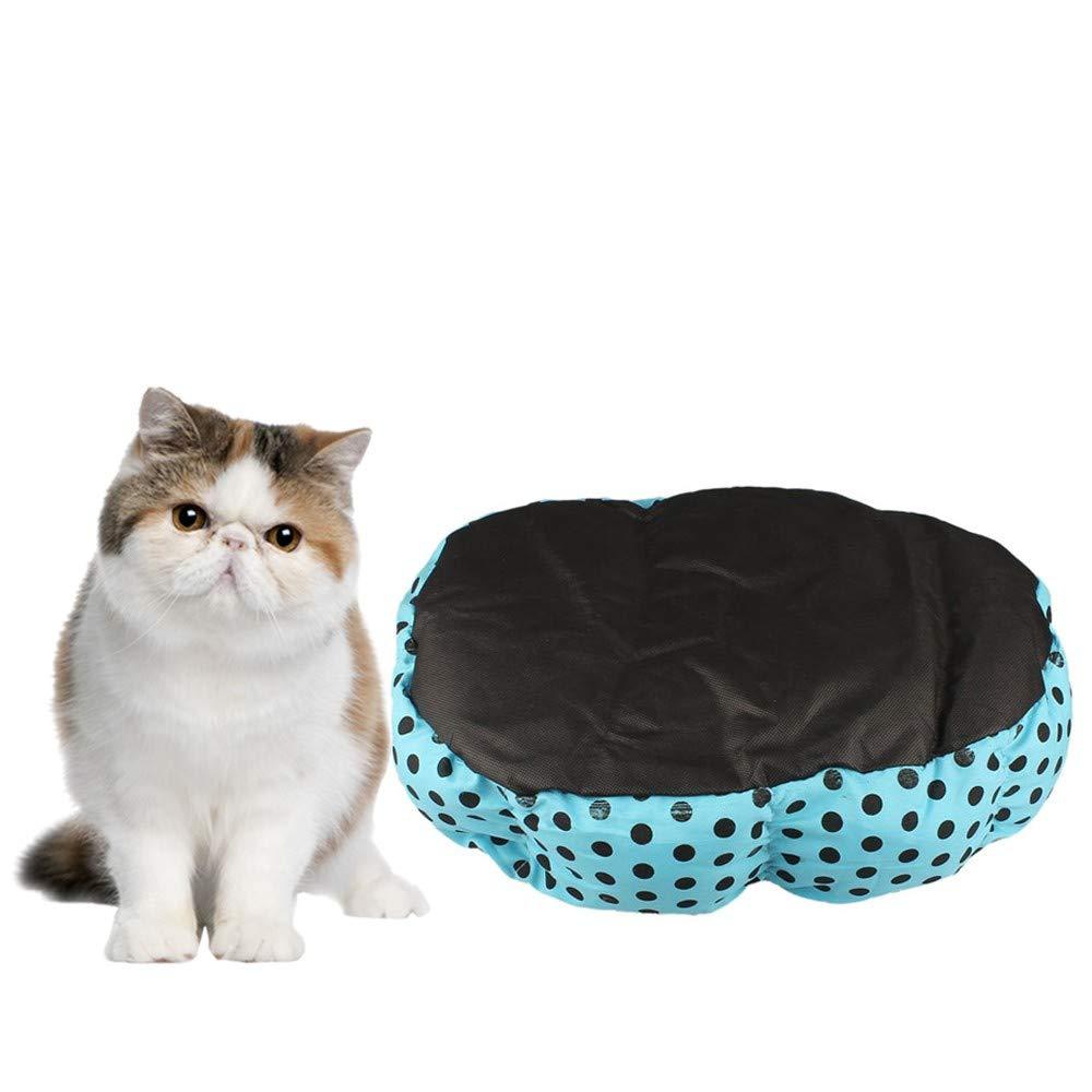 2019 New! Pet Bed,Small Dogs Winter Warm Fleece House Puppy Cat Plush Cozy Nest Mat Pad (36cm x 30cm, Blue) by Leewos-Pet Clothes (Image #2)