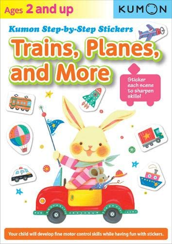 Kumon Step-by-Step Stickers: Trains, Planes, and ()