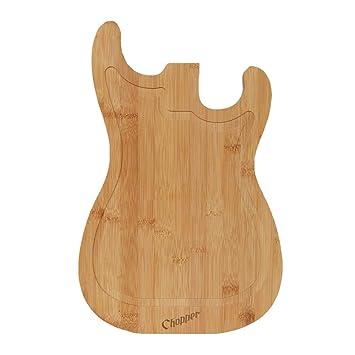 Mikamax - Tabla de cortar de guitarras - Color madera - Venta al por mayor - Carnicero - Corte de vegetales: Amazon.es: Hogar
