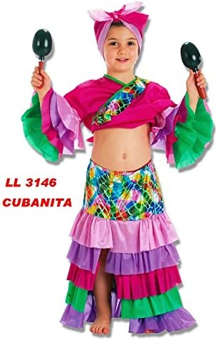 llopis Disfraz de Cubana Morada 9 a 11 Años: Amazon.es: Productos ...