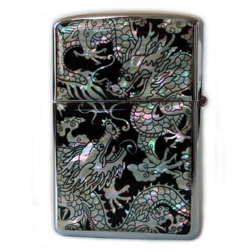 mother-of-pearl-handmade-double-dragon-design-zippo-style-black-pocket-oil-cigarette-tobacco-smoking