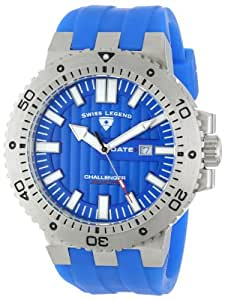 Swiss Legend Men's 10126-03 Challenger Blue Textured Dial Blue Silicone Watch