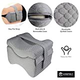 Knee Pillow w/ Strap - New 3-Level Contour Memory