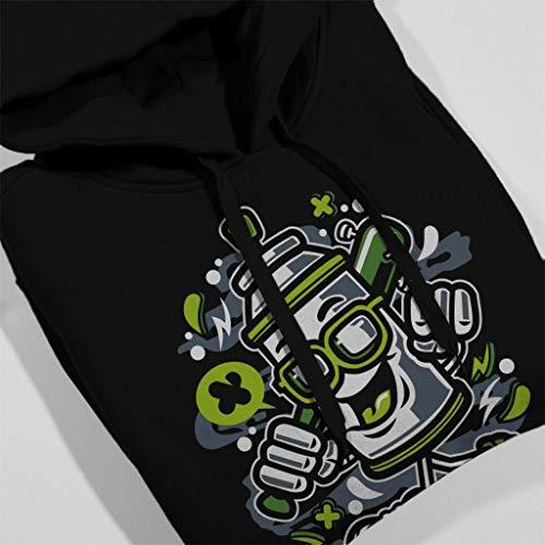 Sweatshirt Can Sunglasses Hooded Man Paint Spray Black Women's wqZ1Yvtp