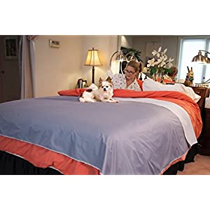 Silly Legacy Waterproof Protective Cover or Liner for Bed or Couch, for Dogs and Cats (King 82 x 90)
