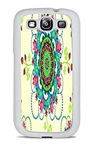 Floral Yellow Mandela White Silicone Case for Samsung Galaxy S3 by ruishername