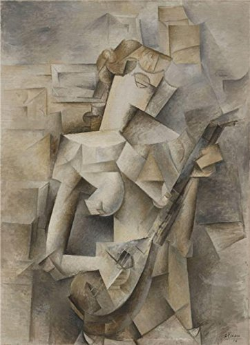Oil Painting 'Pablo Picasso-Girl With A Mandolin,1910' Printing On High Quality Polyster Canvas , 18x25 Inch / 46x63 Cm ,the Best Nursery Decor And Home Gallery Art And Gifts Is (Fashion History Costume Trends And Eras)