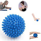 uxcell® 7cm Dia Spiky Massage Ball Trigger Point Hand Foot Pain Relief Massager Blue