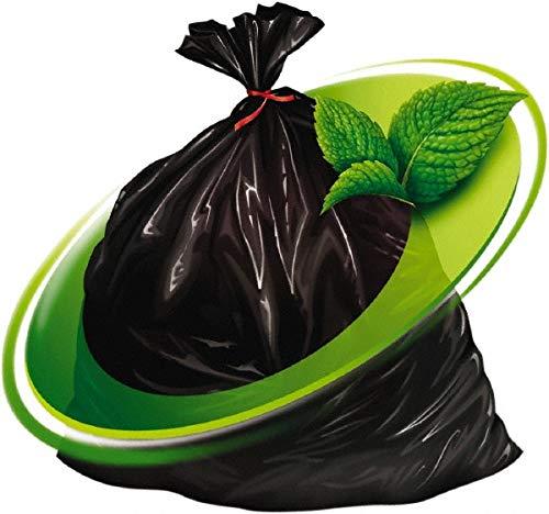 Mint-X Trash Bag, 56 gal, LLDPE, Black, PK100