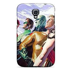 BrownCases Case Cover Protector Specially Made For Galaxy S4 Justice League