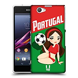 Head Case Designs Portugal Football Pin-ups Protective Snap-on Hard Back Case Cover for Sony Xperia Z1 Compact D5503