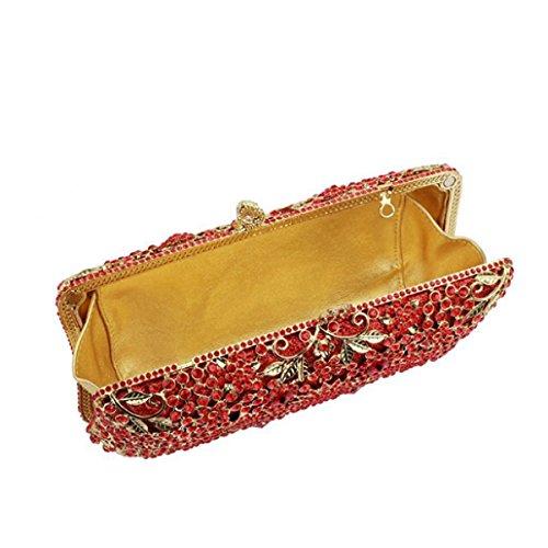 Gamme Red Des Sac Creux Haut De Diamant Main Femmes à Soirée De Mode 7EwRqxntxW